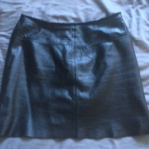 Leather black mini skirt. Wilson's leather.